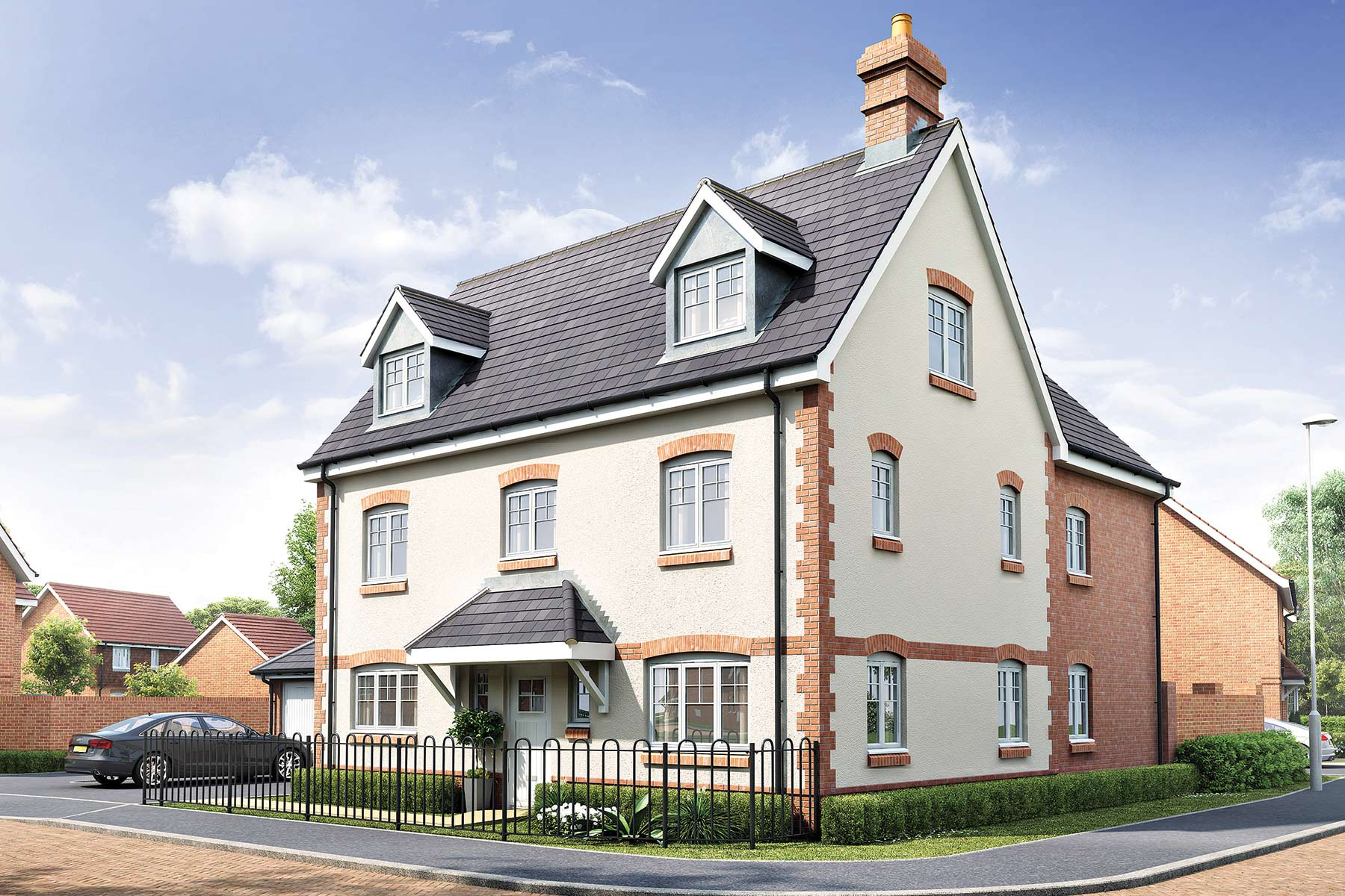 Artists impression of typical Buckingham home